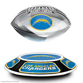 Los Angeles Chargers Levitating Football Sculpture