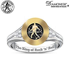Elvis Gold Record Ring