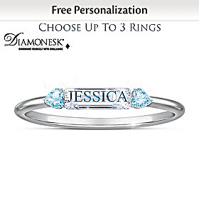 Together We're Family Personalized Ring