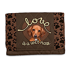 Love Is A Wet Nose Dachshund Wallet