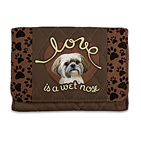 Love Is A Wet Nose Shih Tzu Wallet