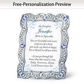 Daughter, You Are A Treasure Personalized Poem Frame