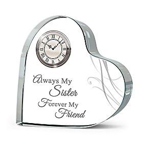 Forever Loved Cherished Sister Clock