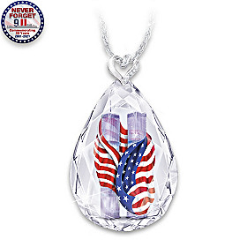 Never Forget 9/11 Pendant Necklace
