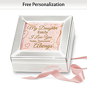 I Love You Today, Tomorrow, Always Personalized Music Box