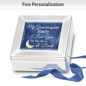 I Love You To The Moon And Back Personalized Music Box