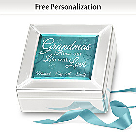 Grandmas Bless Our Life With Love Personalized Music Box
