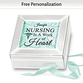 Nursing Is A Work Of Heart Personalized Music Box
