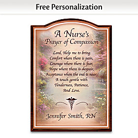Nurse's Prayer Of Compassion Personalized Wall Decor
