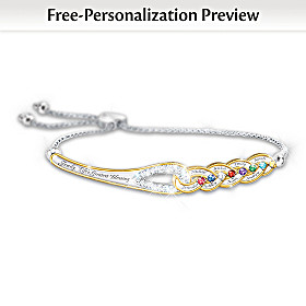 Our Family's Strength Of Love Personalized Bracelet
