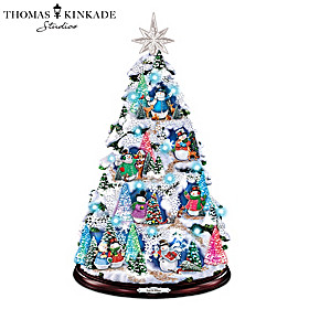 Thomas Kinkade Let It Glow Christmas Tree