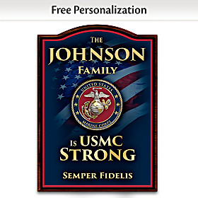 USMC Family Personalized Welcome Sign