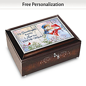 My Granddaughter I Love You Snow Much Personalized Music Box