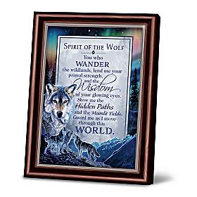 Spirit Of The Wolf Poem Frame