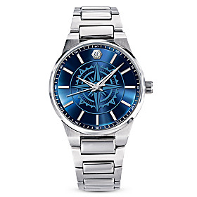 For My Son Guiding Faith Compass Men's Diamond Watch