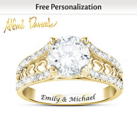 One Love Personalized Solid 10K Gold Ring