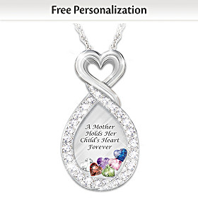 A Mother's Heart Personalized Pendant Necklace