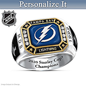 Lightning® 2020 Stanley Cup® Personalized Ring