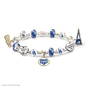 Dodgers 2020 World Series Champions Charm Bracelet