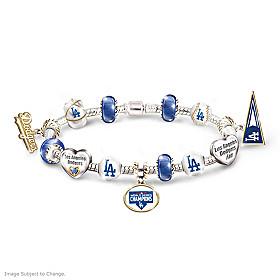 Dodgers 2020 World Series Champions Charm Bracelet