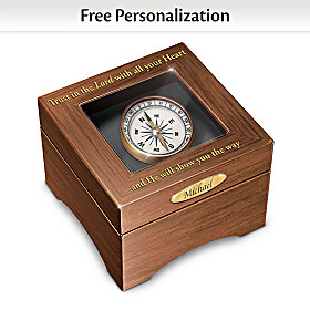 He Will Show You the Way Personalized Keepsake Box