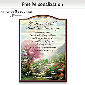 Thomas Kinkade Forever In Your Heart Personalized Wall Decor