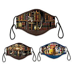 Wysocki Literary Cats Face Mask Set