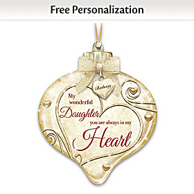 My Wonderful Daughter Personalized Ornament