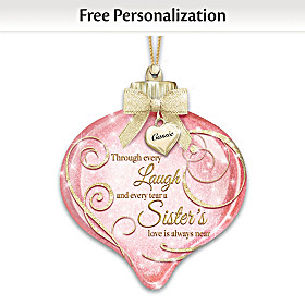 A Sister's Love Is Always Near Personalized Ornament