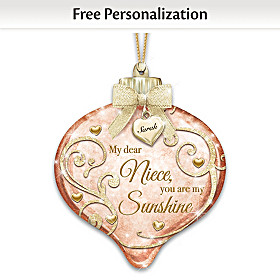 My Dear Niece, You Are My Sunshine Personalized Ornament