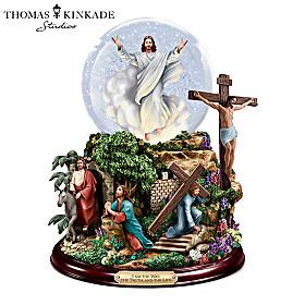 Thomas Kinkade's Visions Of Christ Glitter Globe