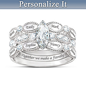 Together We Are Family Personalized Ring