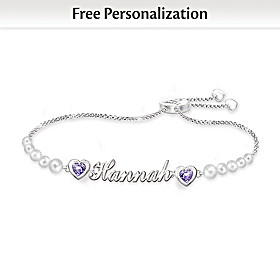 My Treasured Granddaughter Personalized Bracelet