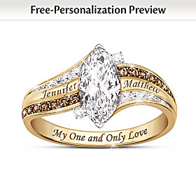My One And Only Love Personalized Solid 10K Gold Ring