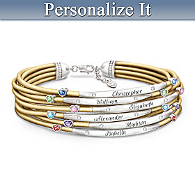 We Are Family Personalized Bracelet