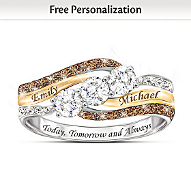 Today And Always Personalized Diamond Ring