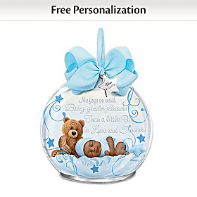 A Baby To Treasure Personalized Ornament: Boy