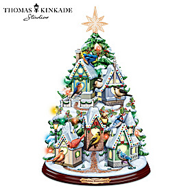 Thomas Kinkade A Holiday Homecoming Christmas Tree