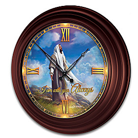 I Am With You Always Wall Clock