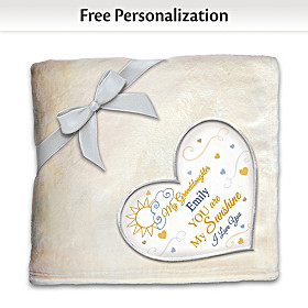 Granddaughter, You Are My Sunshine Personalized Blanket