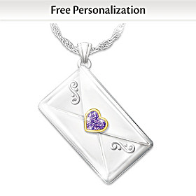 My Daughter, I Love You Personalized Pendant Necklace