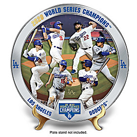 2020 World Series Champions Dodgers Collector Plate