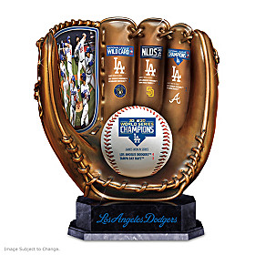 2020 World Series Champions Dodgers Glove Sculpture