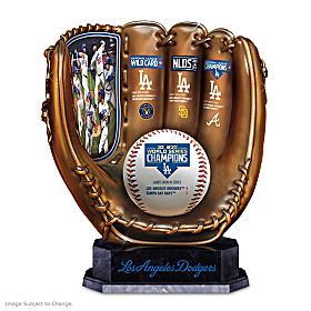 2020 World Series Champions Dodgers Glove Sculpture