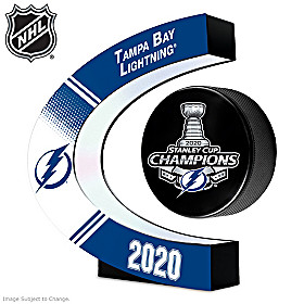 Lightning® Stanley Cup® Levitating Puck Sculpture