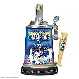 Los Angeles Dodgers 2020 World Series Champions Stein