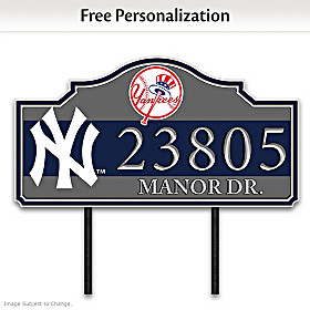 New York Yankees Personalized Address Sign