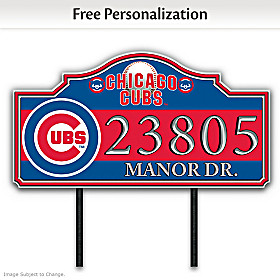 Chicago Cubs Personalized Address Sign