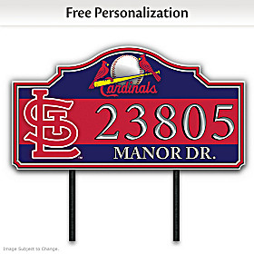 St. Louis Cardinals Personalized Address Sign