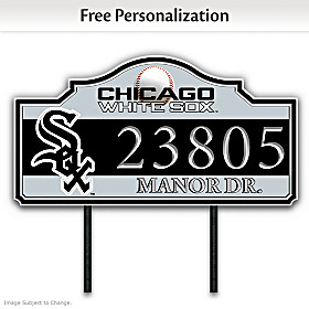 Chicago White Sox Personalized Address Sign